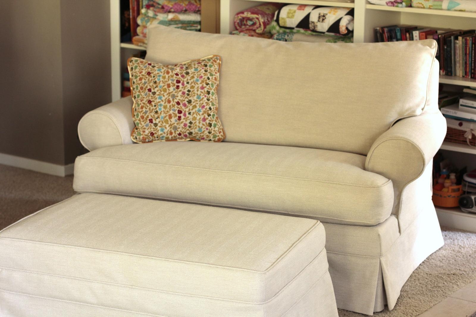 Twin Fibers: Loveseat Slipcover Regarding Slip Covers For Love Seats (View 4 of 20)