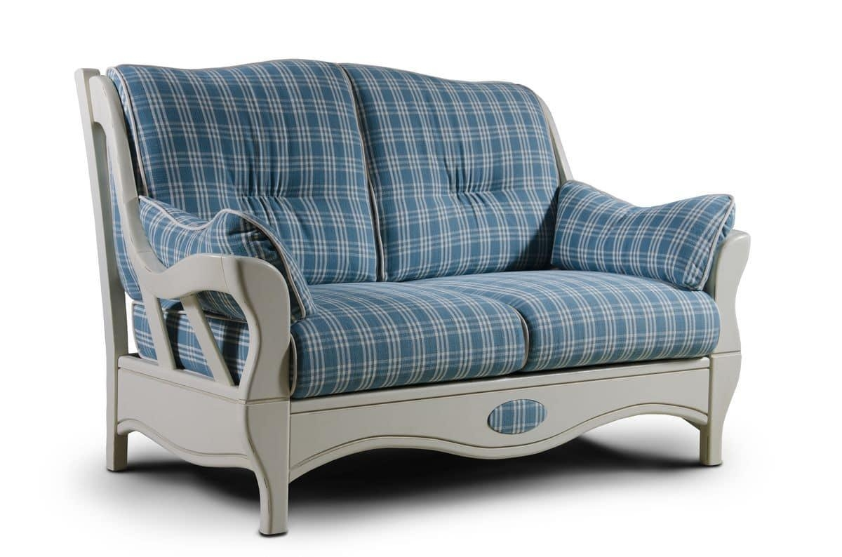 Two Seater Sofa, Country Style | Idfdesign With Regard To Country Style Sofas (Image 20 of 20)