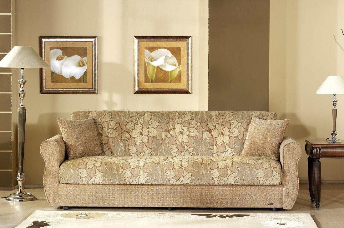 Two Tone Fabric Living Room W/storage Sleeper Sofa Inside Two Tone Sofas (Image 18 of 20)