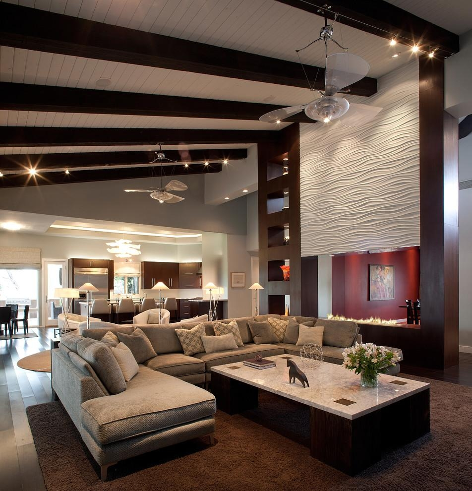 U-Shaped-Sectional-Sofa-Home-Theater-Modern-With-Media-Room throughout Media Room Sectional Sofas