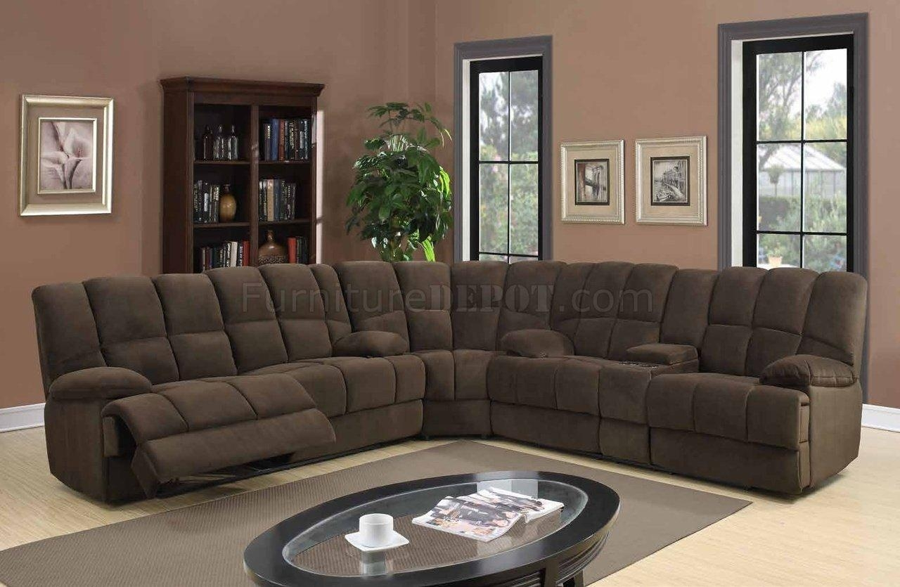 U201 Motion Sectional Sofa In Chocolate Fabricglobal Intended For Motion Sectional Sofas (Image 16 of 20)