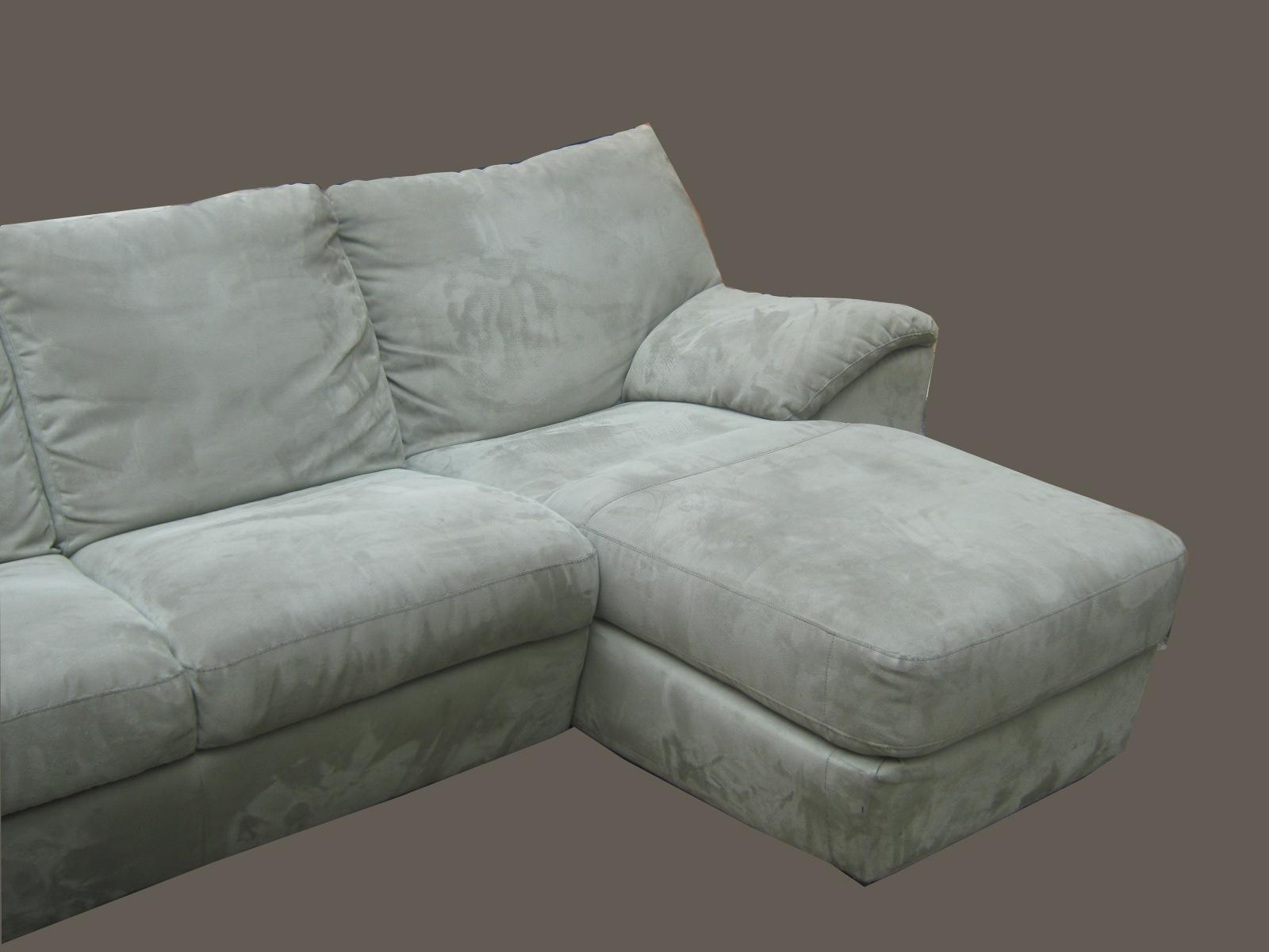 Uhuru Furniture & Collectibles: Natuzzi Sage Green Microfiber With Natuzzi Microfiber Sectional Sofas (Image 20 of 20)