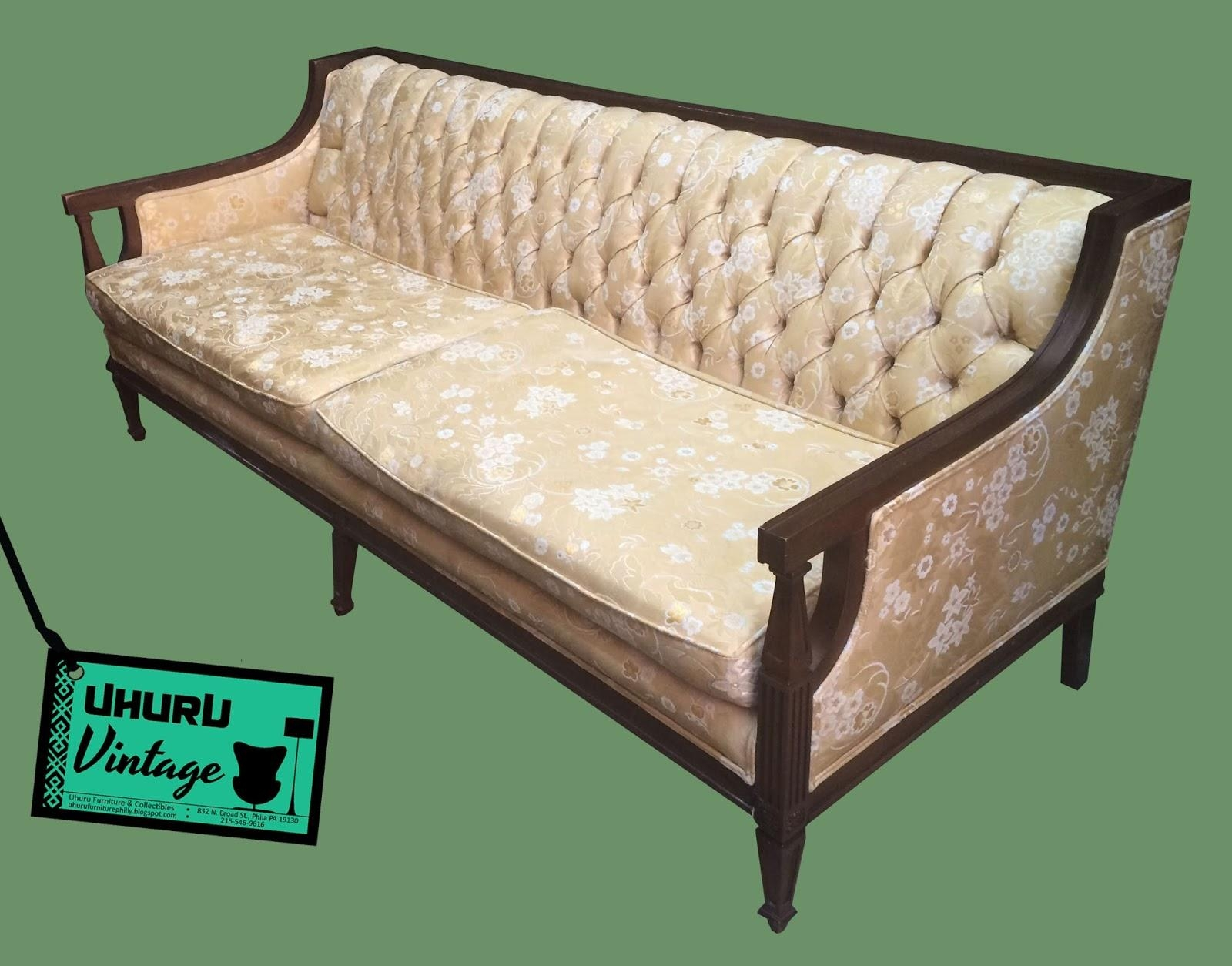Uhuru Furniture & Collectibles: Vintage Brocade Sofa – $195 $175 Sold For Brocade Sofas (View 17 of 20)
