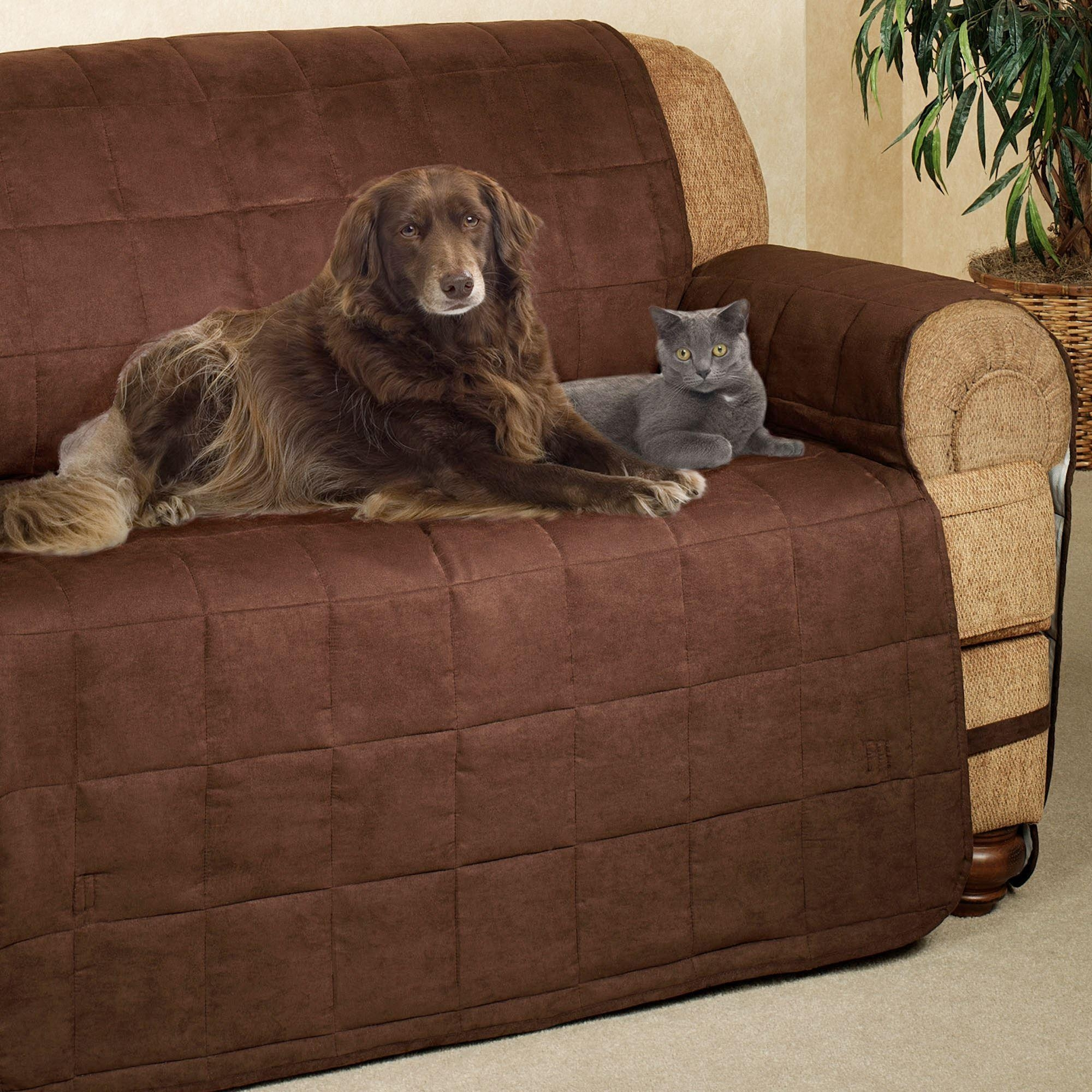 Ultimate Pet Furniture Protectors With Straps in Pet Proof Sofa Covers