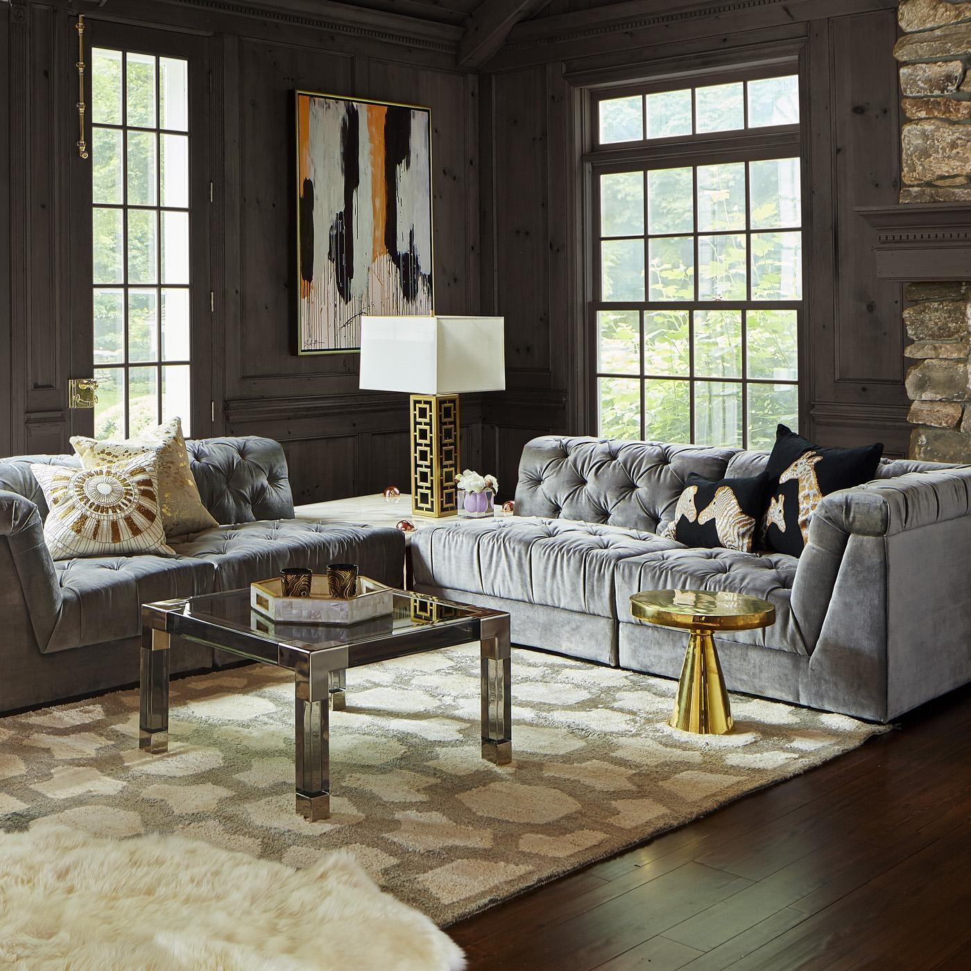 Ultra Charcoal Sectional Modular Sofa | Modern Furniture for Jonathan Sofa