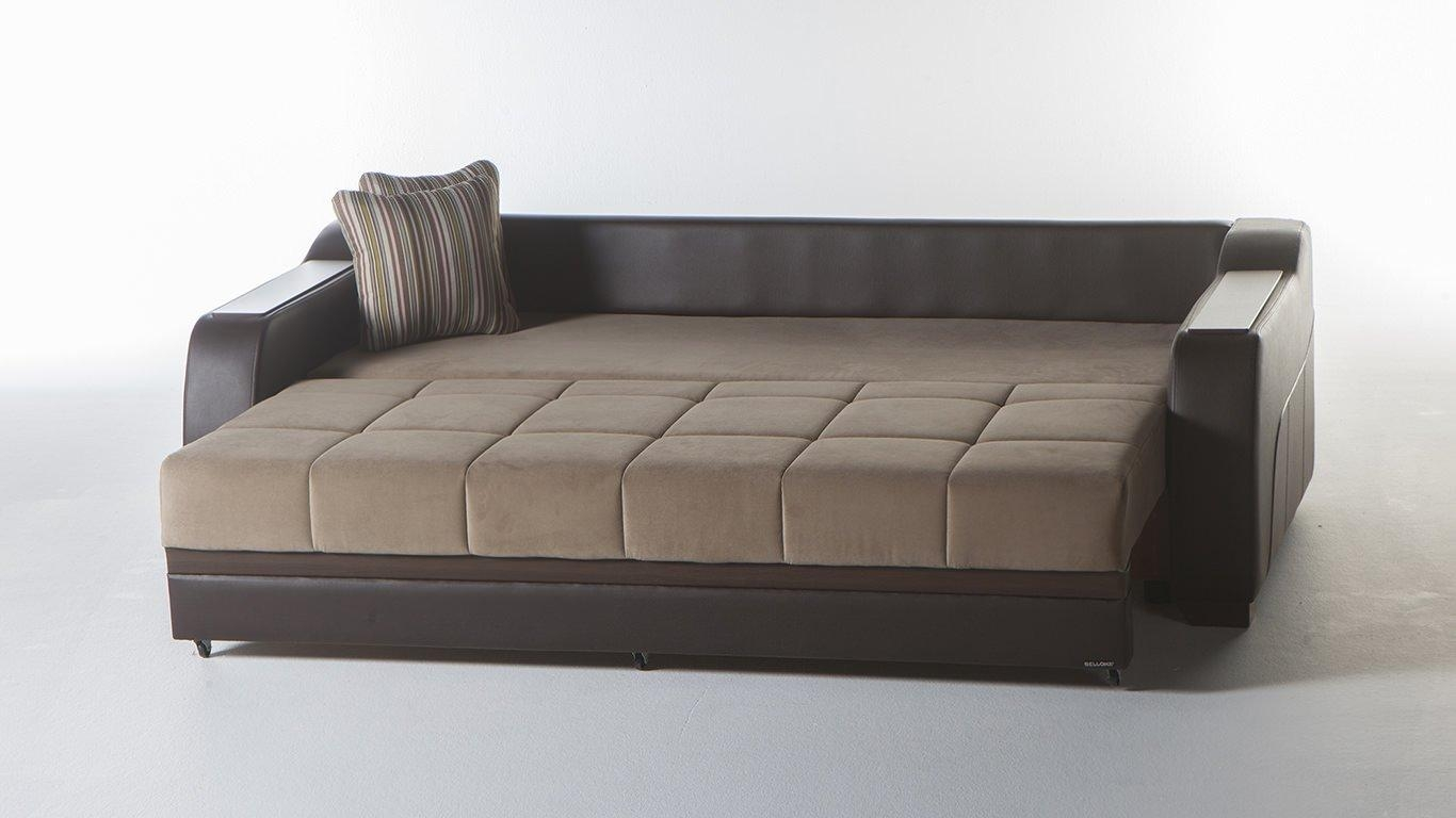 Ultra Lilyum Vizon Convertible Sofa Bedsunset Within Queen Convertible Sofas (Image 20 of 20)