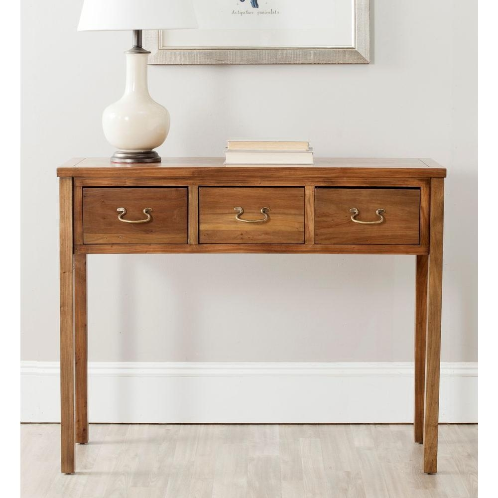 Unfinished Wood – Entryway Furniture – Furniture – The Home Depot Regarding Slim Sofa Tables (View 3 of 20)