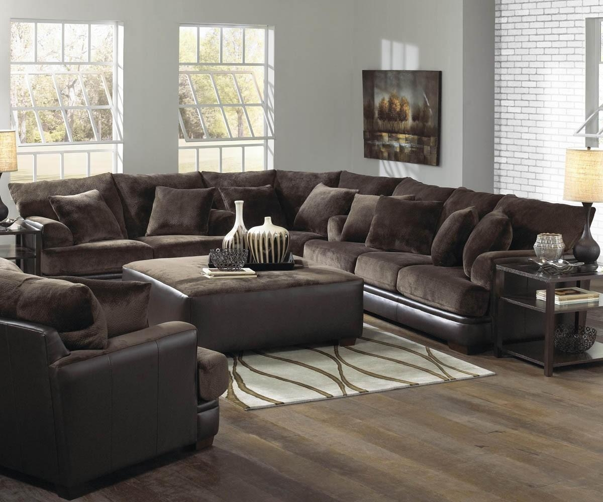 Unique Living Room Area With Two Tone Black Brown Couch Living intended for Living Room Sofas