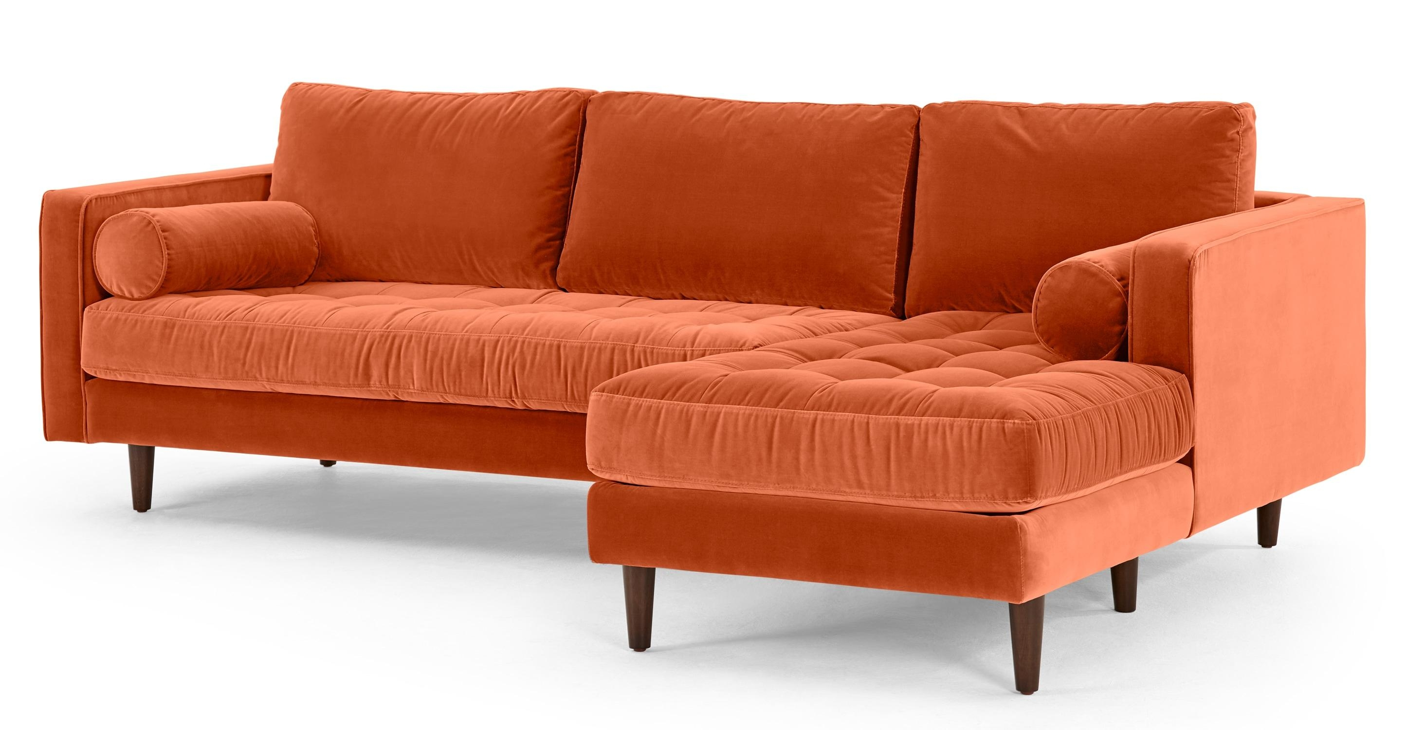 Unique Orange Sofa | Cochabamba Within Burnt Orange Sofas (View 11 of 20)
