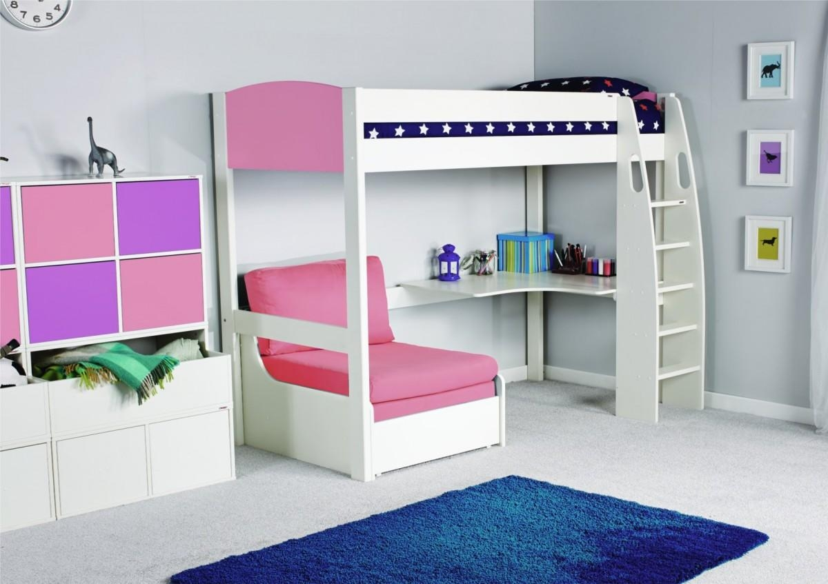 Unos High Sleeper Frame With Desk And Chair Bed Only inside High Sleeper Bed With Sofa
