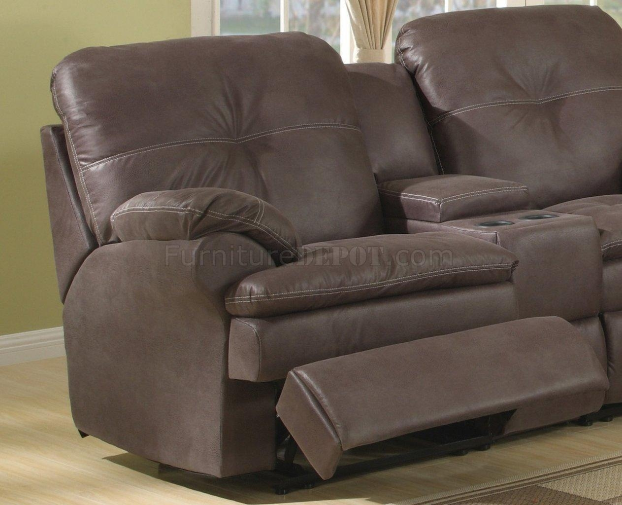 Upgraded Fabric Modern Reclining Sectional Sofa within Modern Reclining Sectional