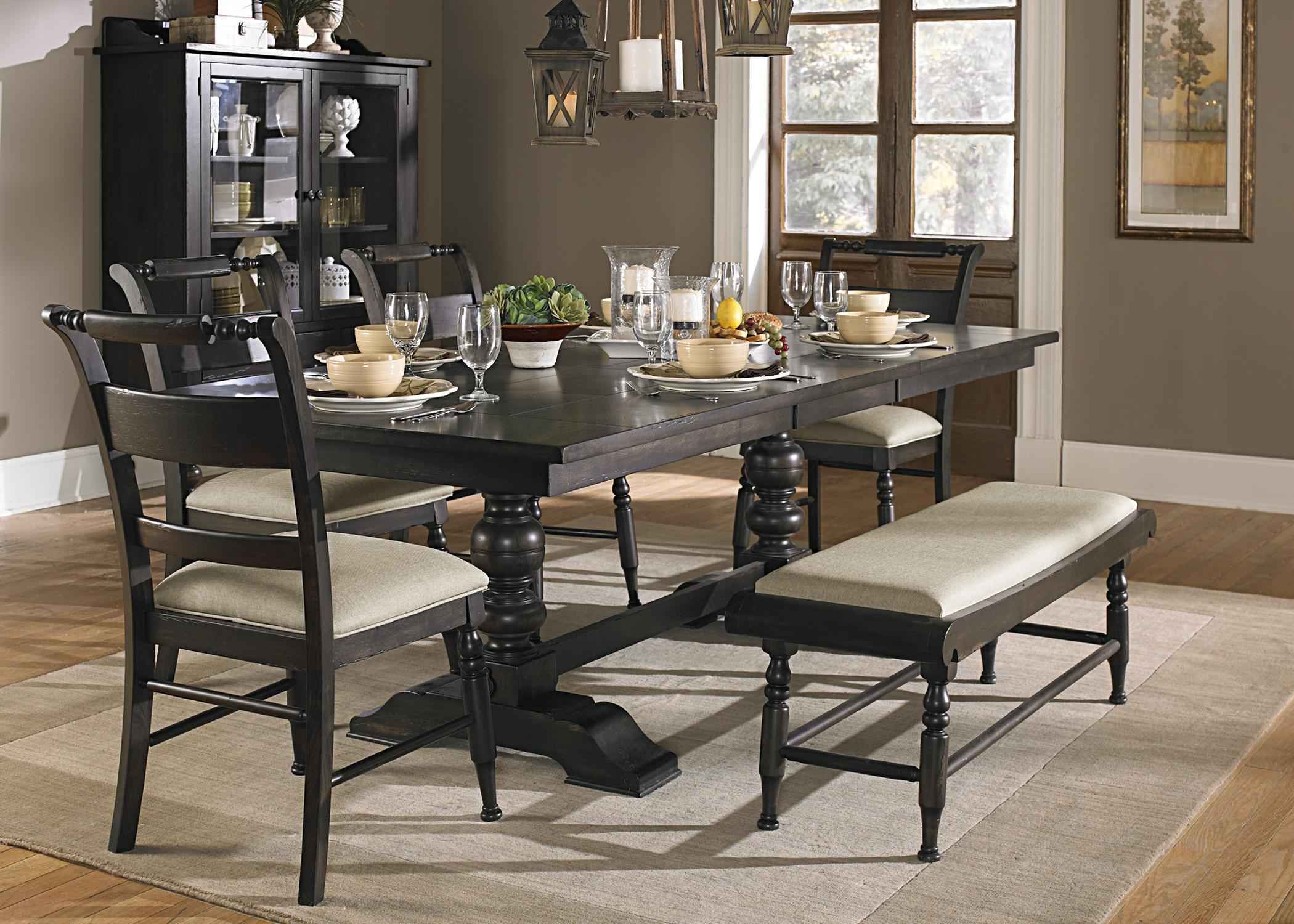 Upholstered Dining Benchliberty Furniture | Wolf And Gardiner Intended For Dining Room Bench Sofas (Image 20 of 20)