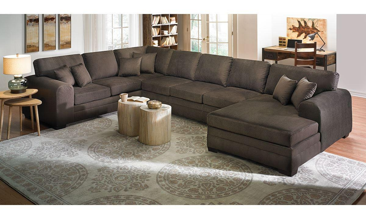 Upholstered Sectional Sofa With Chaise | The Dump - America's throughout Oversized Sectional Sofa