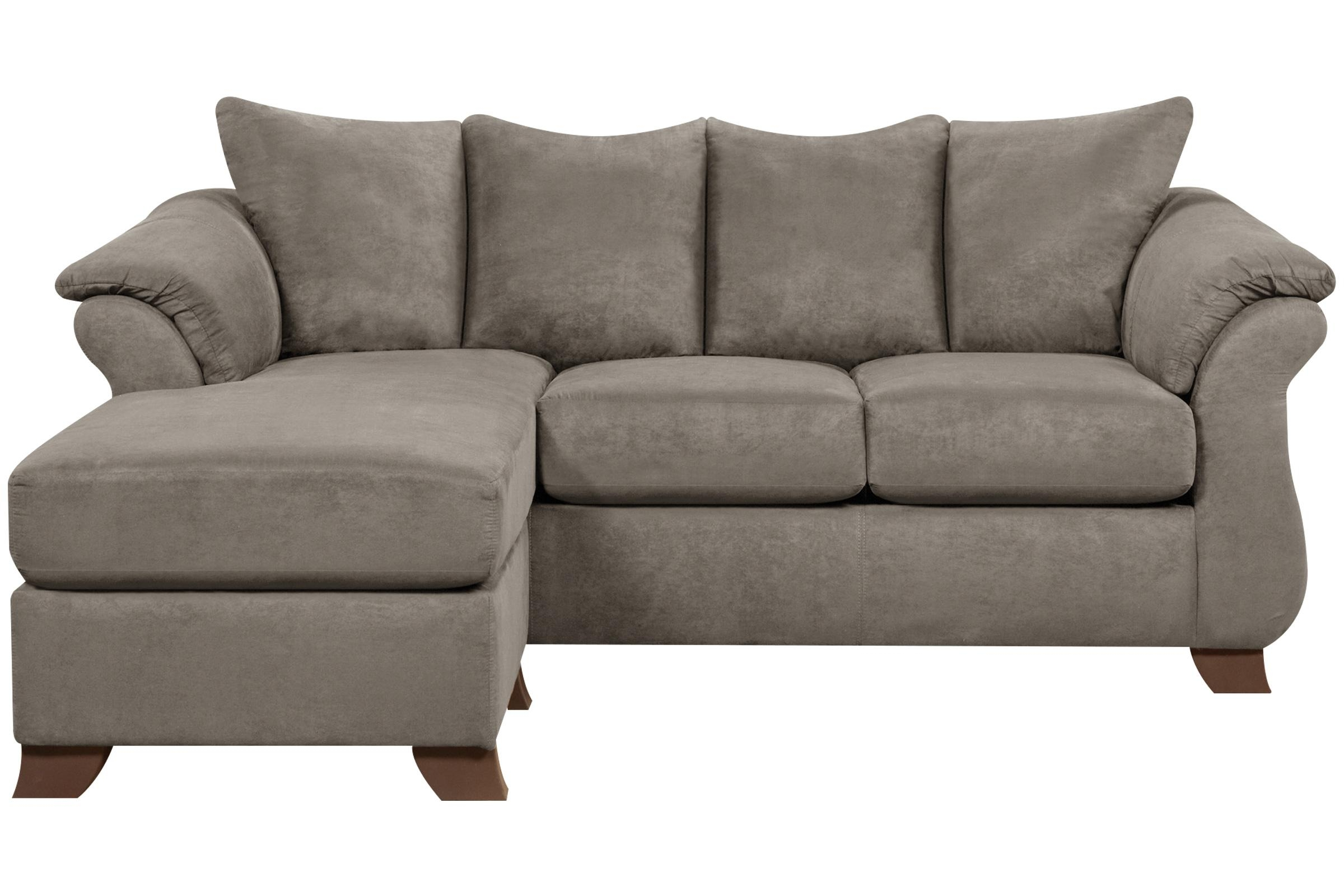 Upton Microfiber Sofa With Floating Ottoman In Floating Sofas (Image 20 of 20)