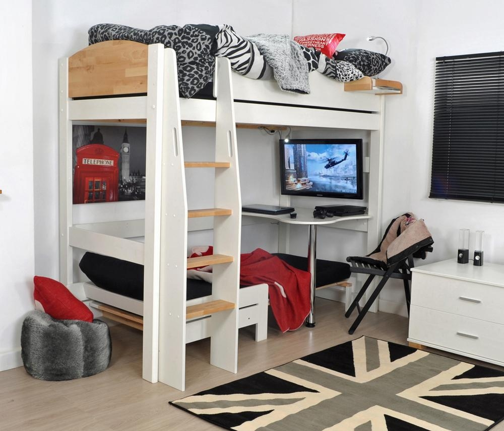 Urban High Sleeper 1 with High Sleeper With Desk and Sofa