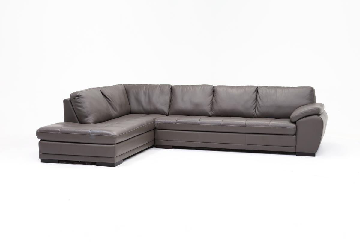 Vaughn 2 Piece Sectional W/laf Chaise – Living Spaces For Sectional Sofa With 2 Chaises (View 17 of 20)