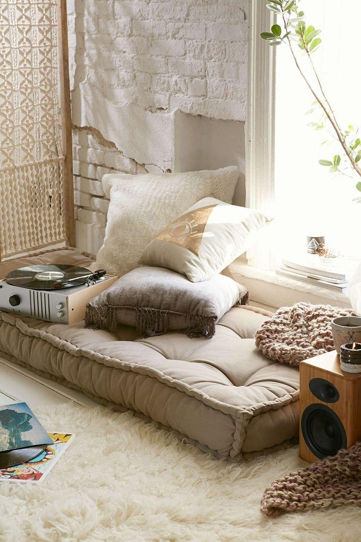 Velvet Floor Cushions | Cushions Decoration With Regard To Floor Cushion Sofas (View 14 of 20)