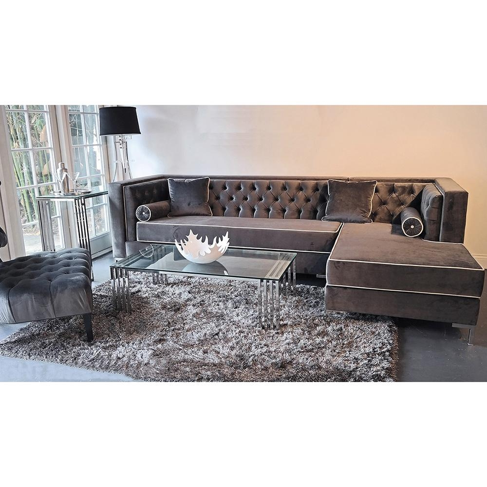 Velvet Sofa With Chaise | Tehranmix Decoration With Velvet Sofas Sectionals (View 9 of 20)