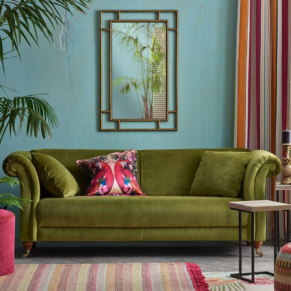 Velvet Sofas – Our Pick Of Best | Ideal Home With Chartreuse Sofas (View 6 of 20)