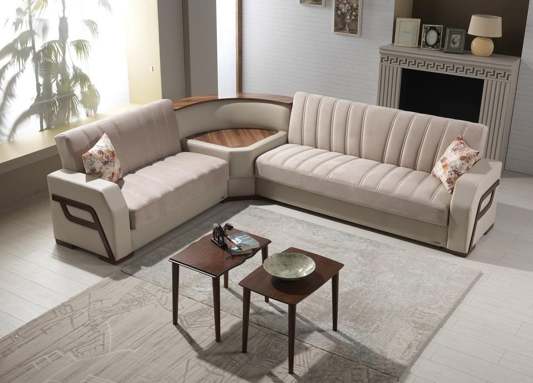 Venice Furniture - Convertible Sectional Model Hugo W/light in Convertible Sectional