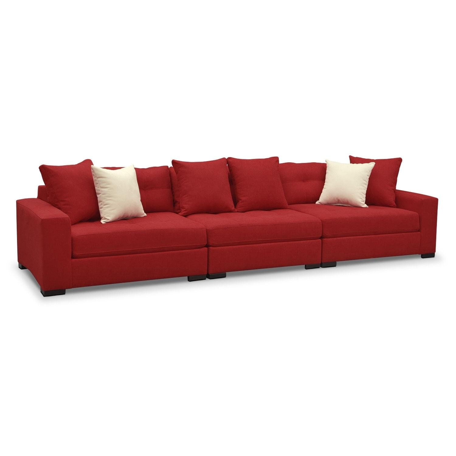 Venti Modular Sofa – Red | Value City Furniture With Regard To Value City Sofas (View 9 of 20)