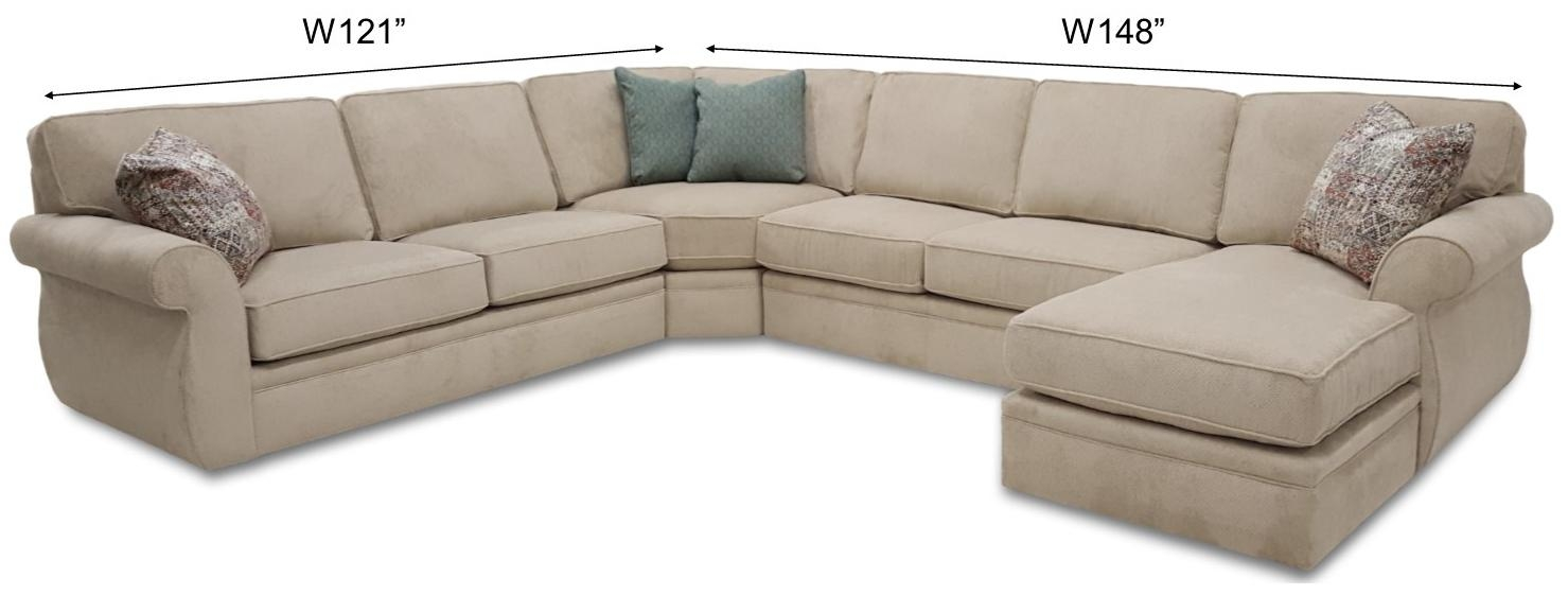 Veronica Sectional - Frontroom Furnishings pertaining to Broyhill Sectional Sofas