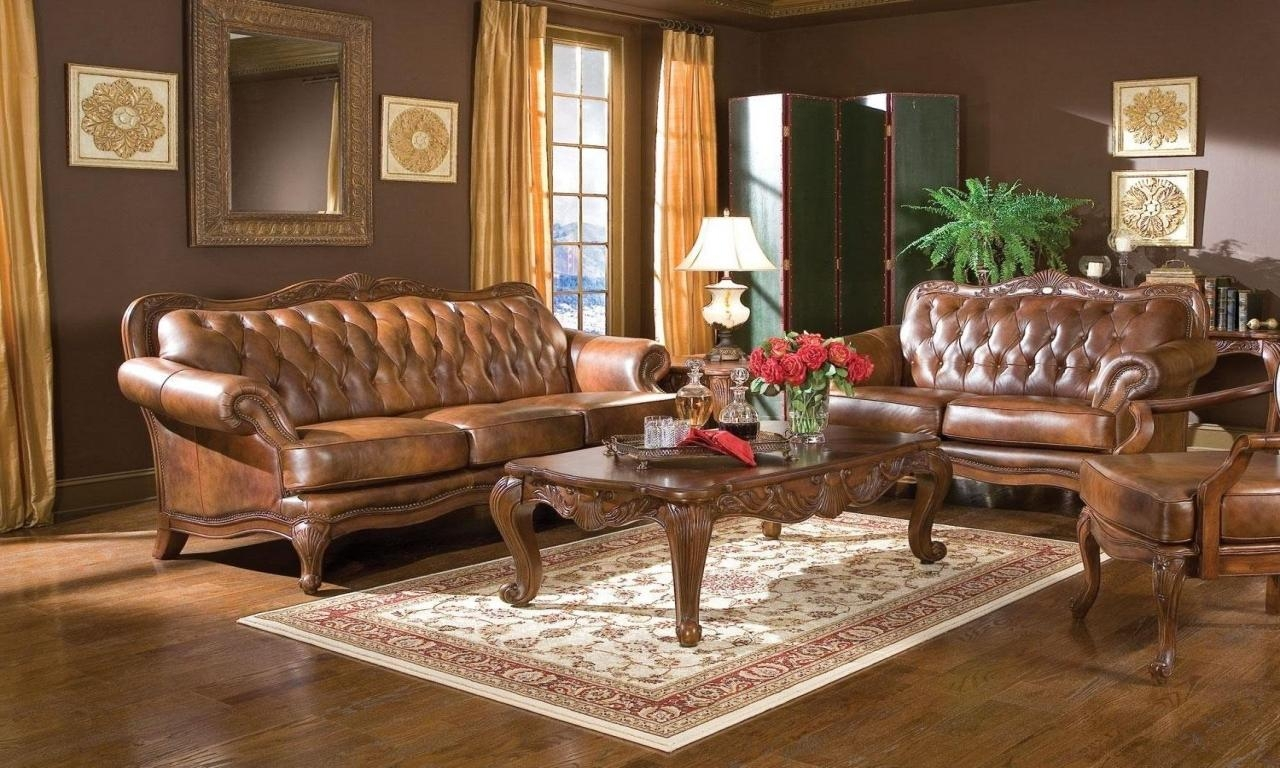 Victorian Style Sofas, Tufted Victorian Leather Sofa Style Brown For Victorian Leather Sofas (Image 20 of 20)