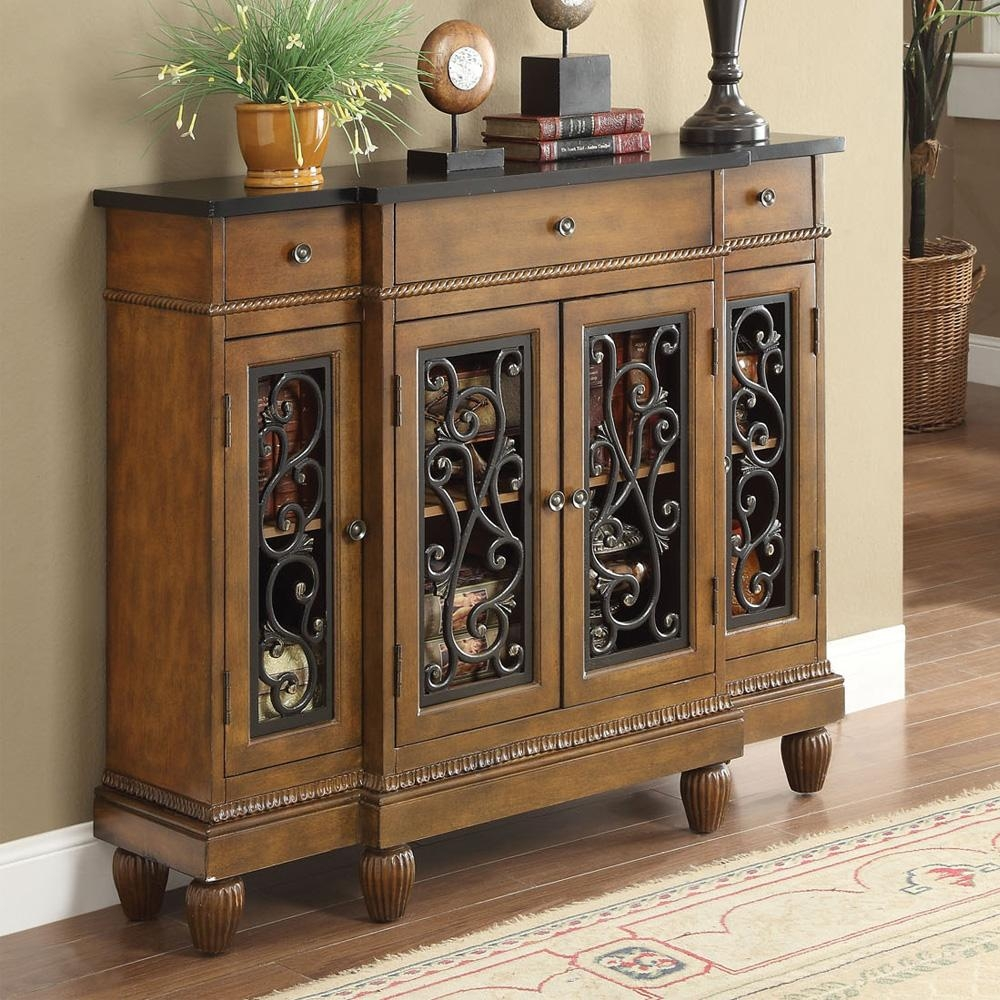 Vidi Accent Hallway Console Sofa Table Chest Metal Decor Door Within Sofa Table Drawers (Image 20 of 20)