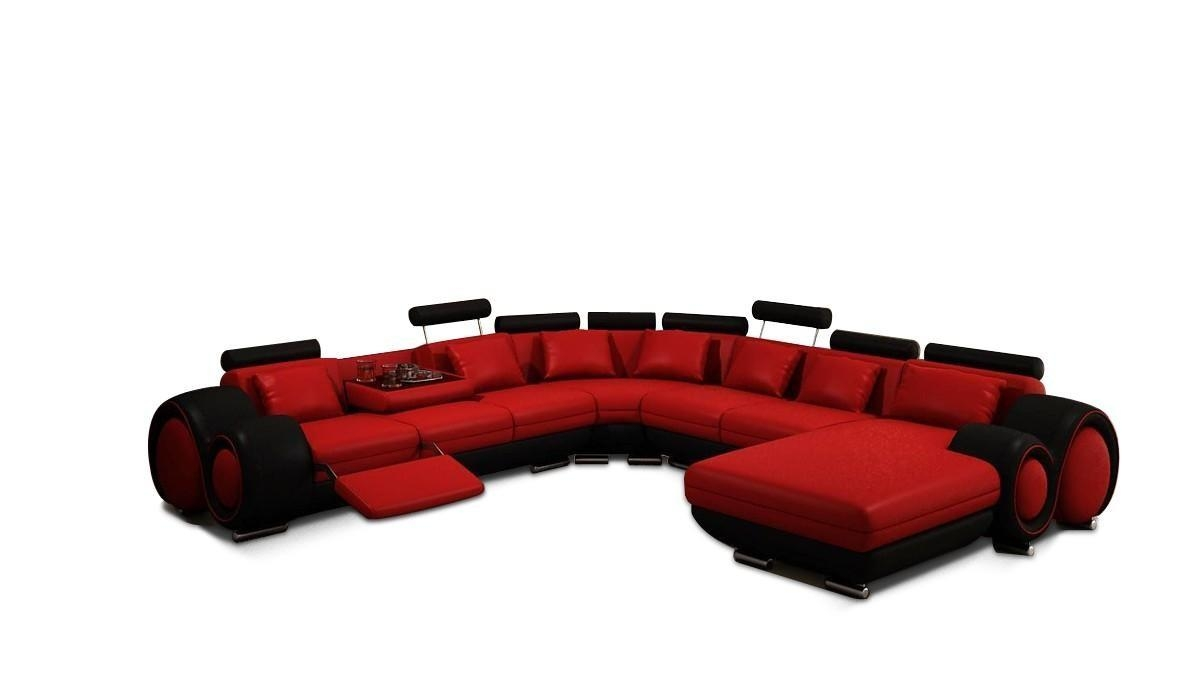 Vig Furniture 4084 Contemporary Red And Black Sectional Sofa with regard to Black And Red Sofas