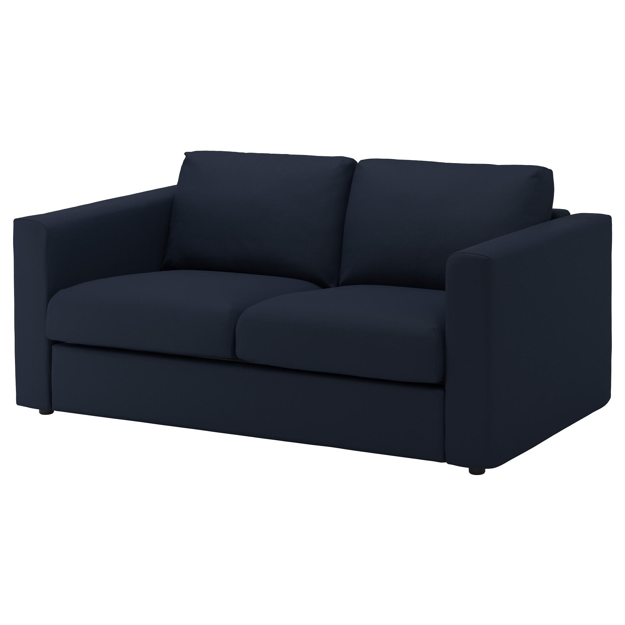 Vimle 2 Seat Sofa Gräsbo Black Blue – Ikea Inside Ikea Two Seater Sofas (Photo 4 of 20)