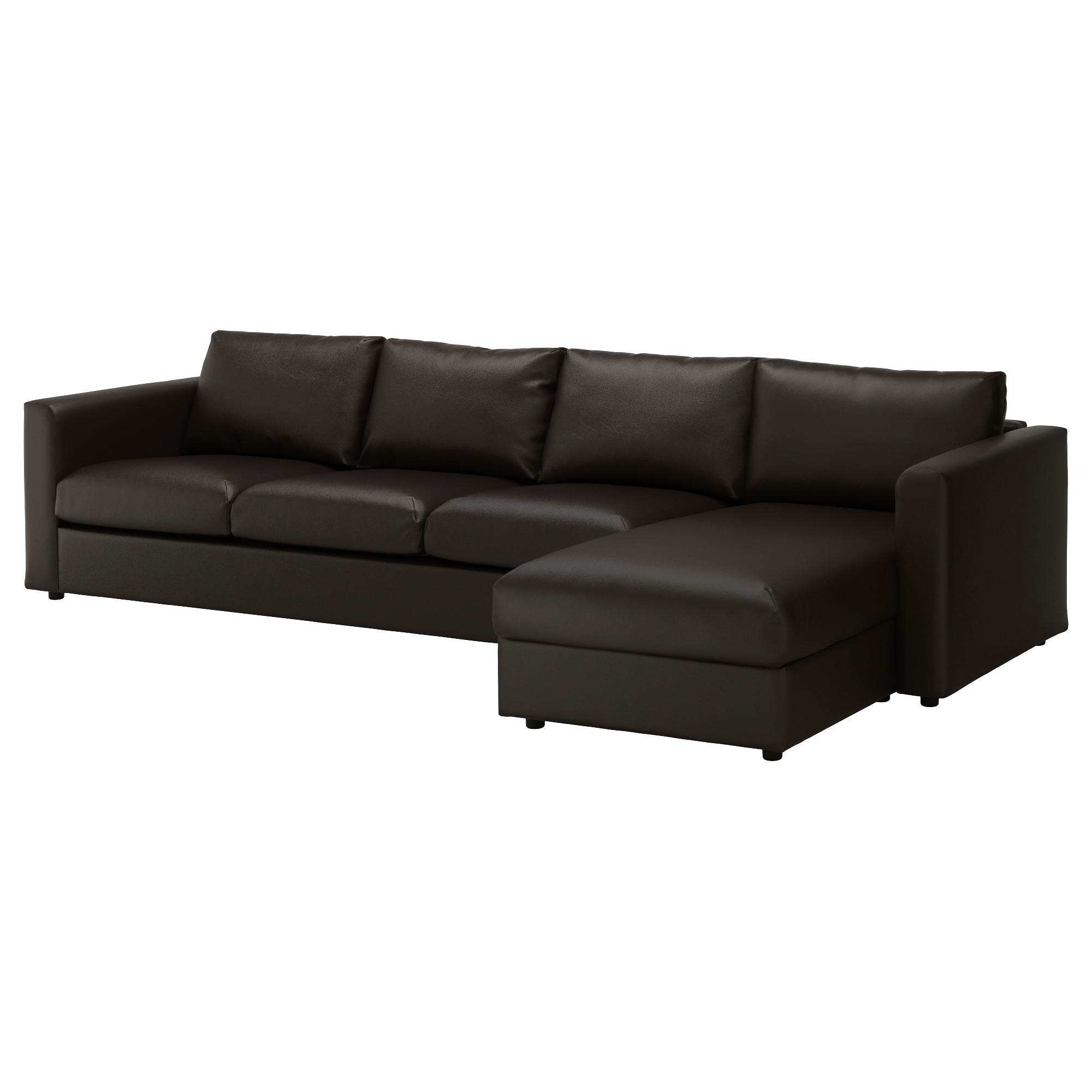 Vimle 4-Seat Sofa With Chaise Longue/farsta Black - Ikea regarding 4 Seat Sofas