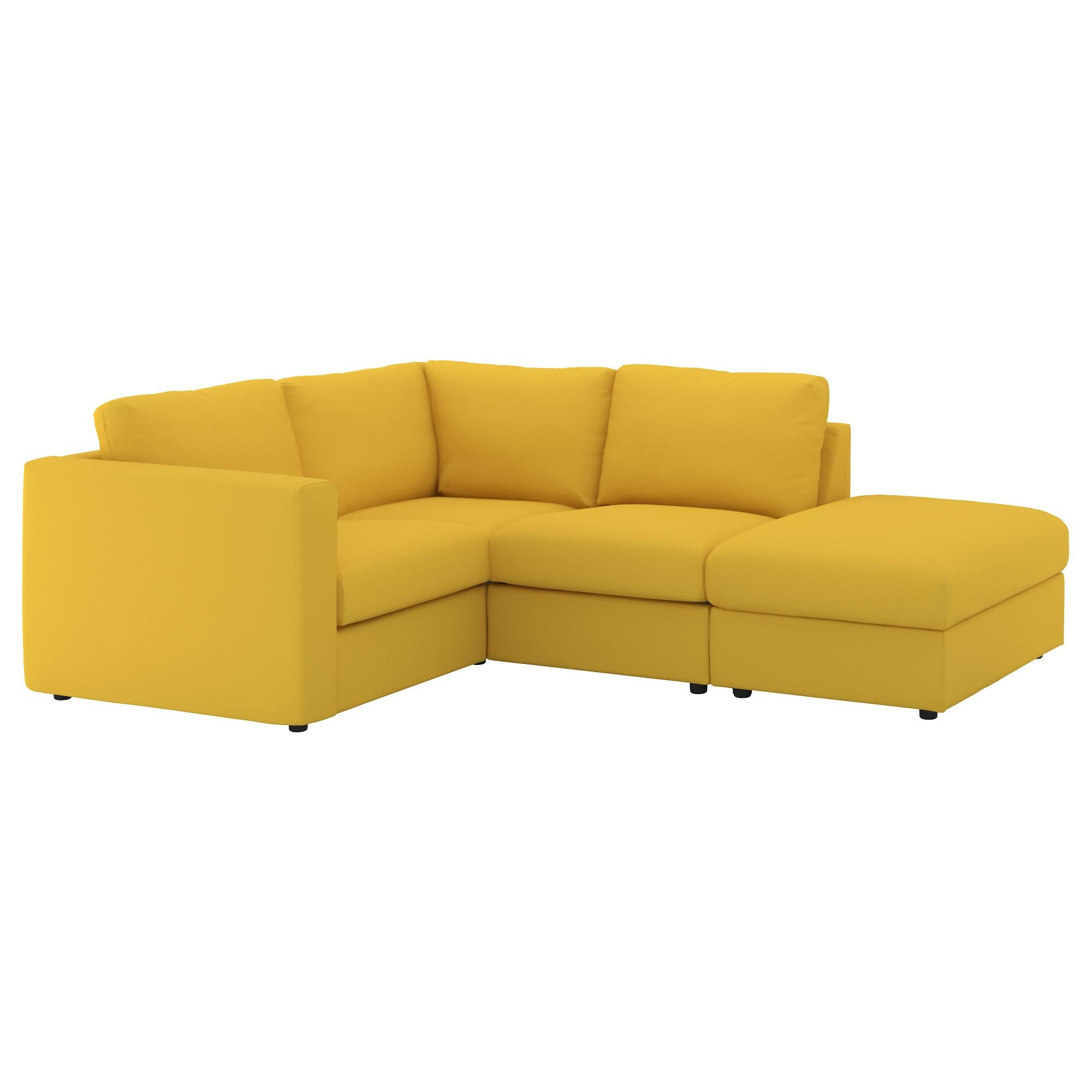Vimle Corner Sofa, 3-Seat With Open End/gräsbo Golden-Yellow - Ikea for Corner Sofas