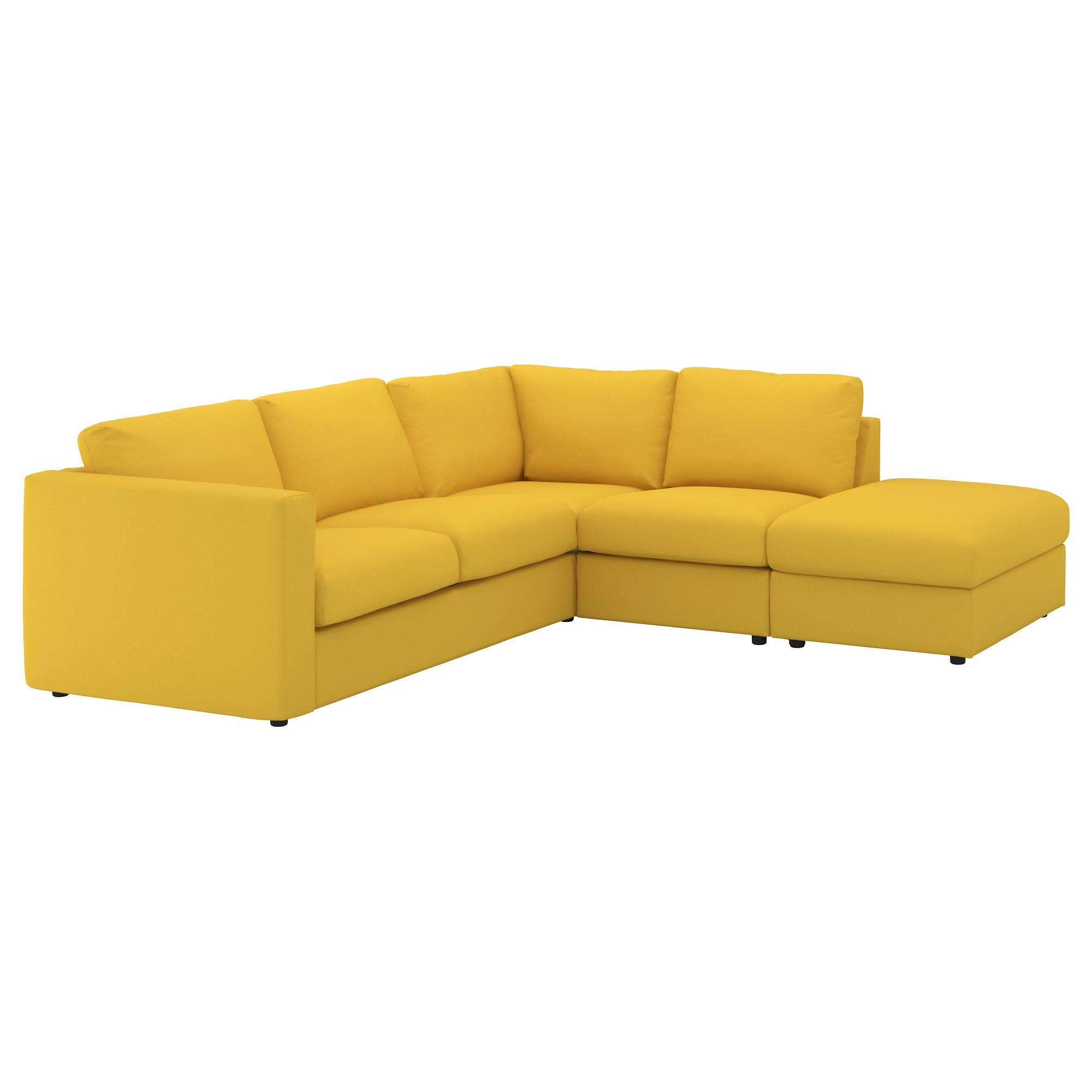 Vimle Corner Sofa, 4 Seat With Open End/gräsbo Golden Yellow – Ikea Within Corner Sofas (Image 20 of 20)