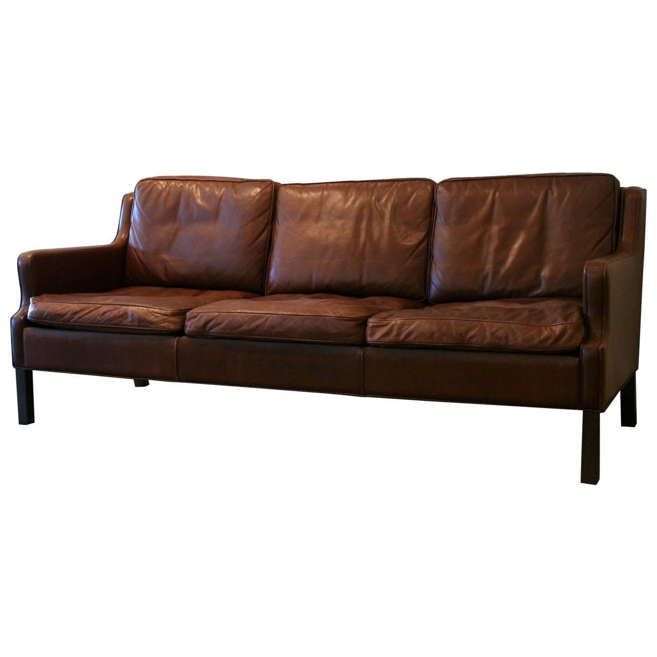 Vintage Danish Brown Leather Sofa At 1Stdibs for Danish Leather Sofas