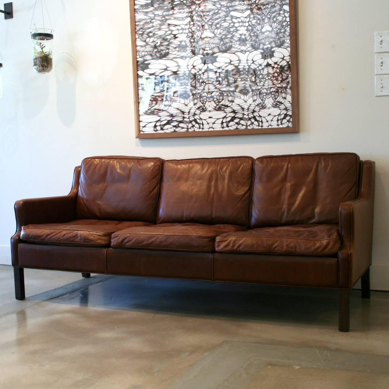 Vintage Danish Brown Leather Sofa At 1Stdibs with regard to Danish Leather Sofas