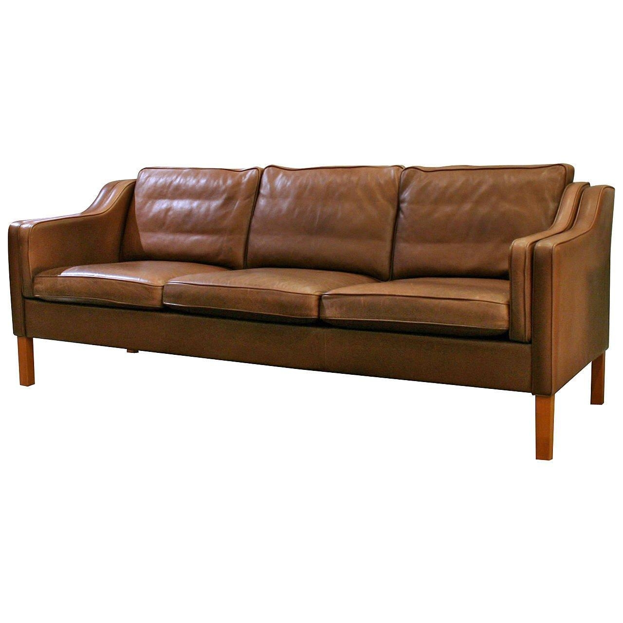 Vintage Danish Leather Sofa At 1Stdibs throughout Danish Leather Sofas