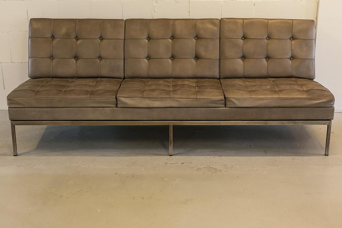 Vintage Leather Sofaflorence Knoll For Knoll, 1972 For Sale At throughout Florence Knoll Leather Sofas