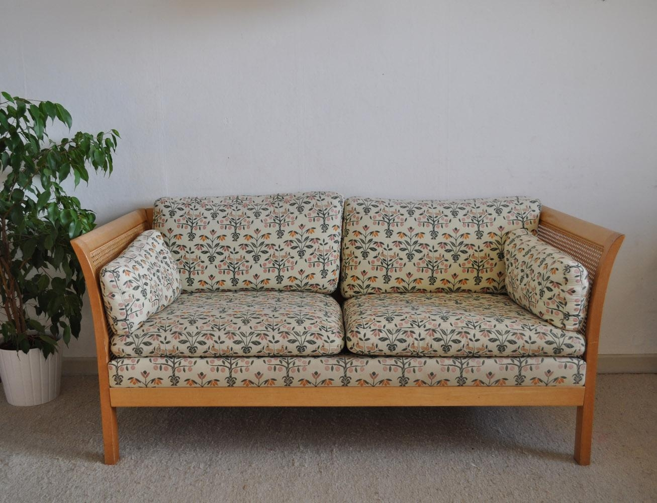 Vintage Rattan Two Seater Sofa From Arne Norell For Sale At Pamono For Two Seater Sofas (Image 20 of 20)