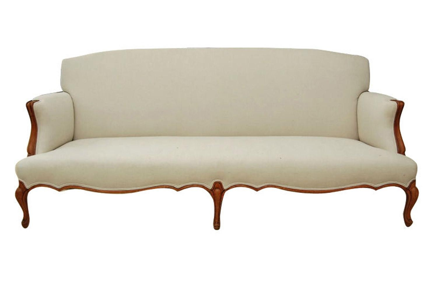 Vintage style sofas vintage knole style sofa in neutral linen at 1stdibs Retro loveseats