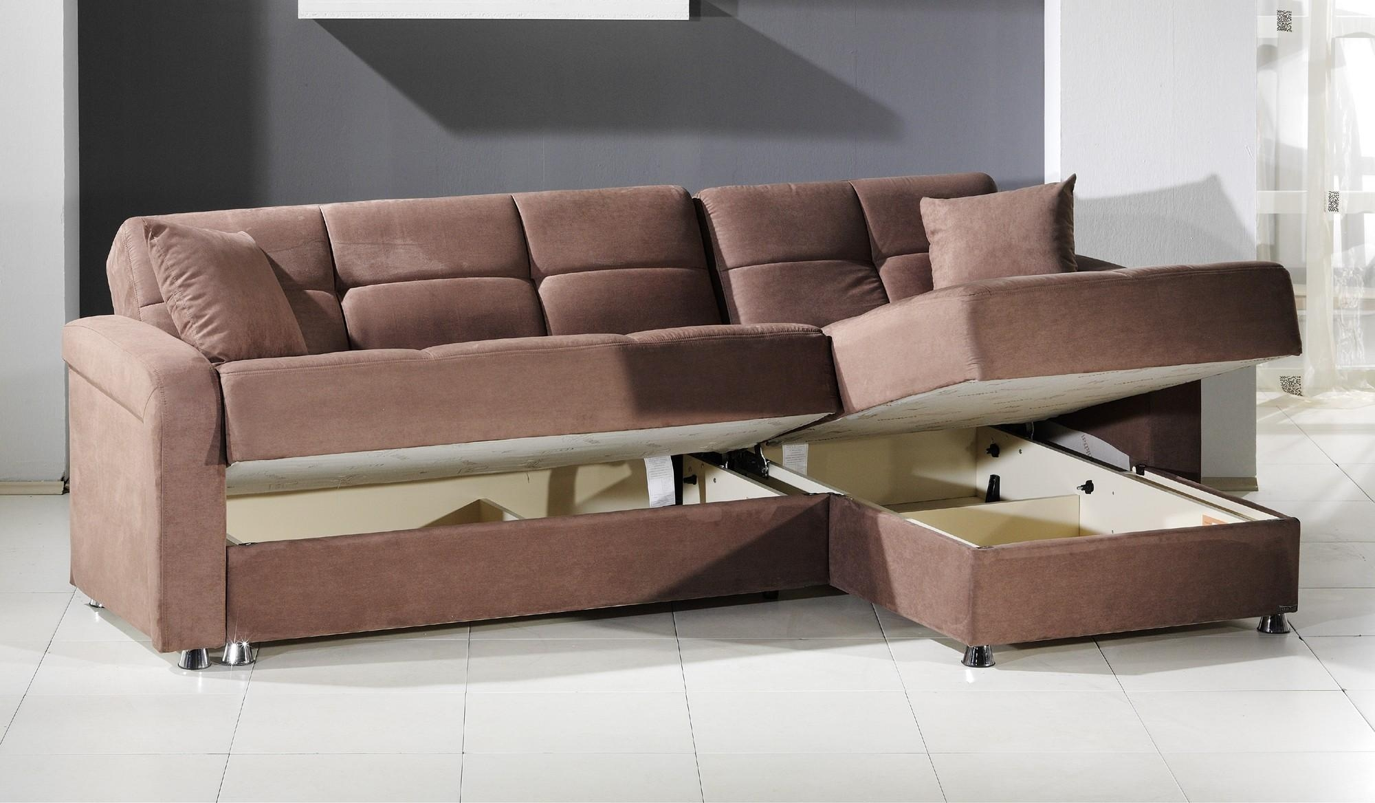 Vision Convertible Sectional Sofa In Rainbow Truffleistikbal Within Convertible Sectional (Image 15 of 15)