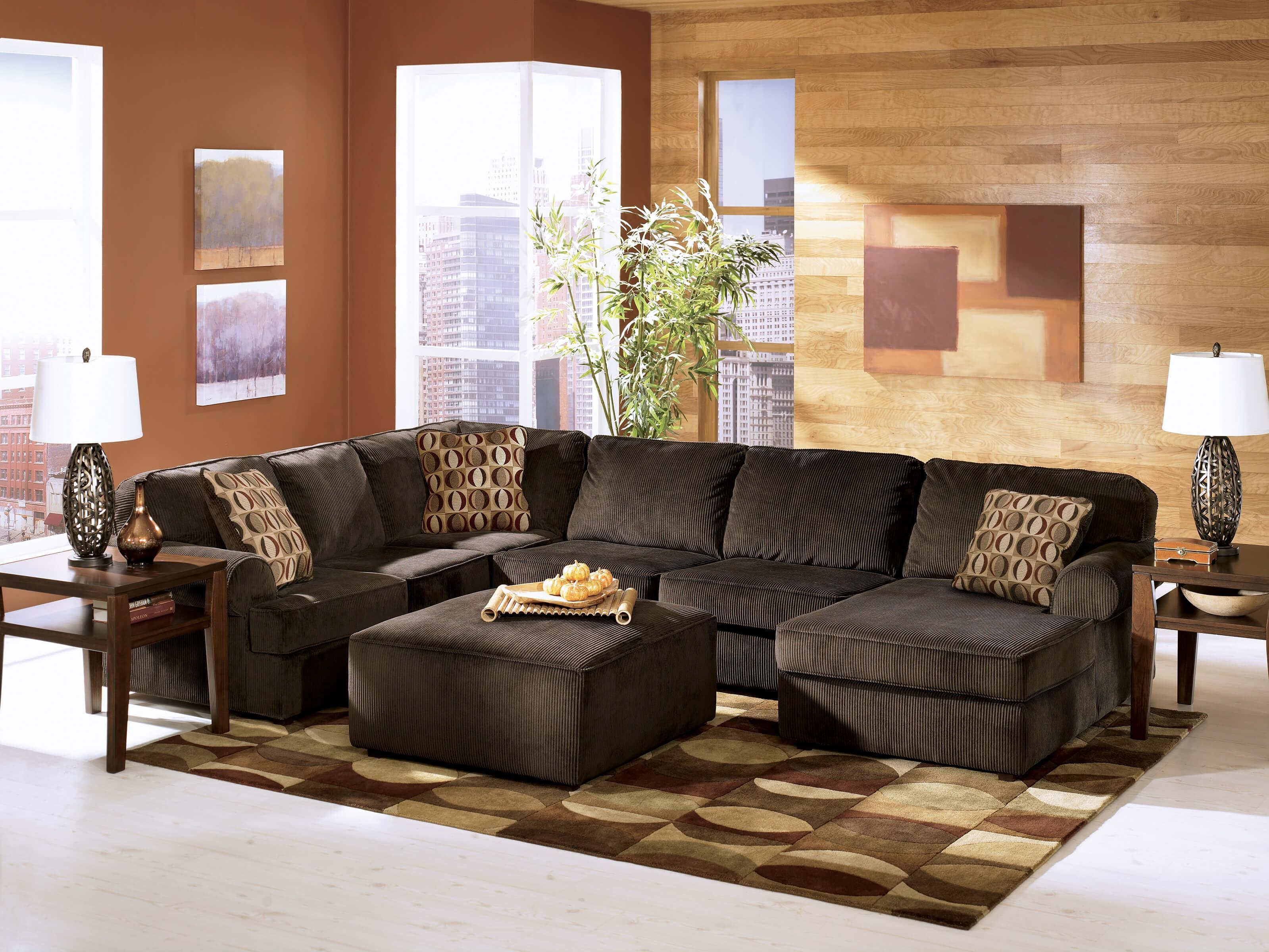 Vista Chocolate Ashley Sectional | Sectional Sofa Sets regarding Chocolate Brown Sectional Sofa