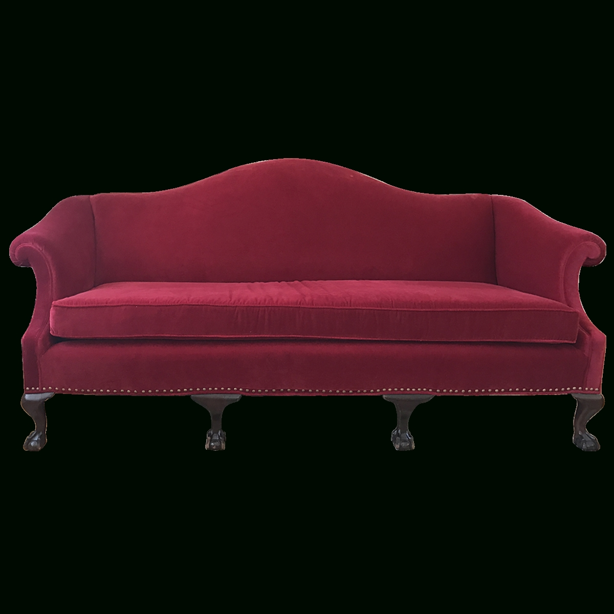 Viyet – Designer Furniture – Seating – Antique Chippendale Style Intended For Chippendale Camelback Sofas (Image 20 of 20)