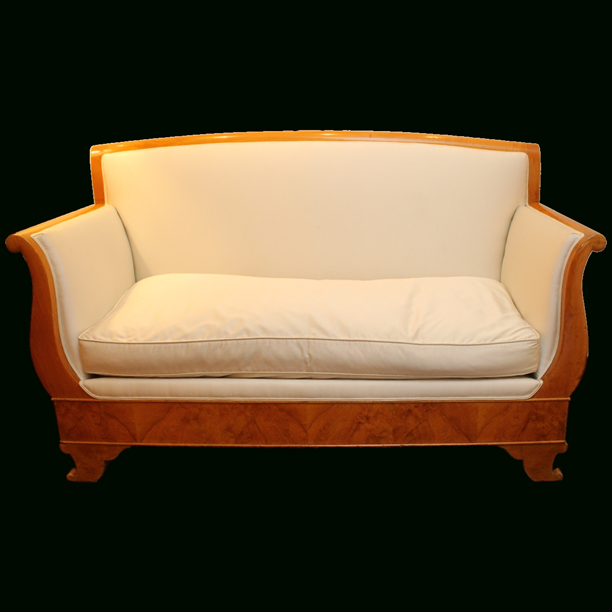 Viyet - Designer Furniture - Seating - Antique Cream Biedermeier Sofa for Biedermeier Sofas