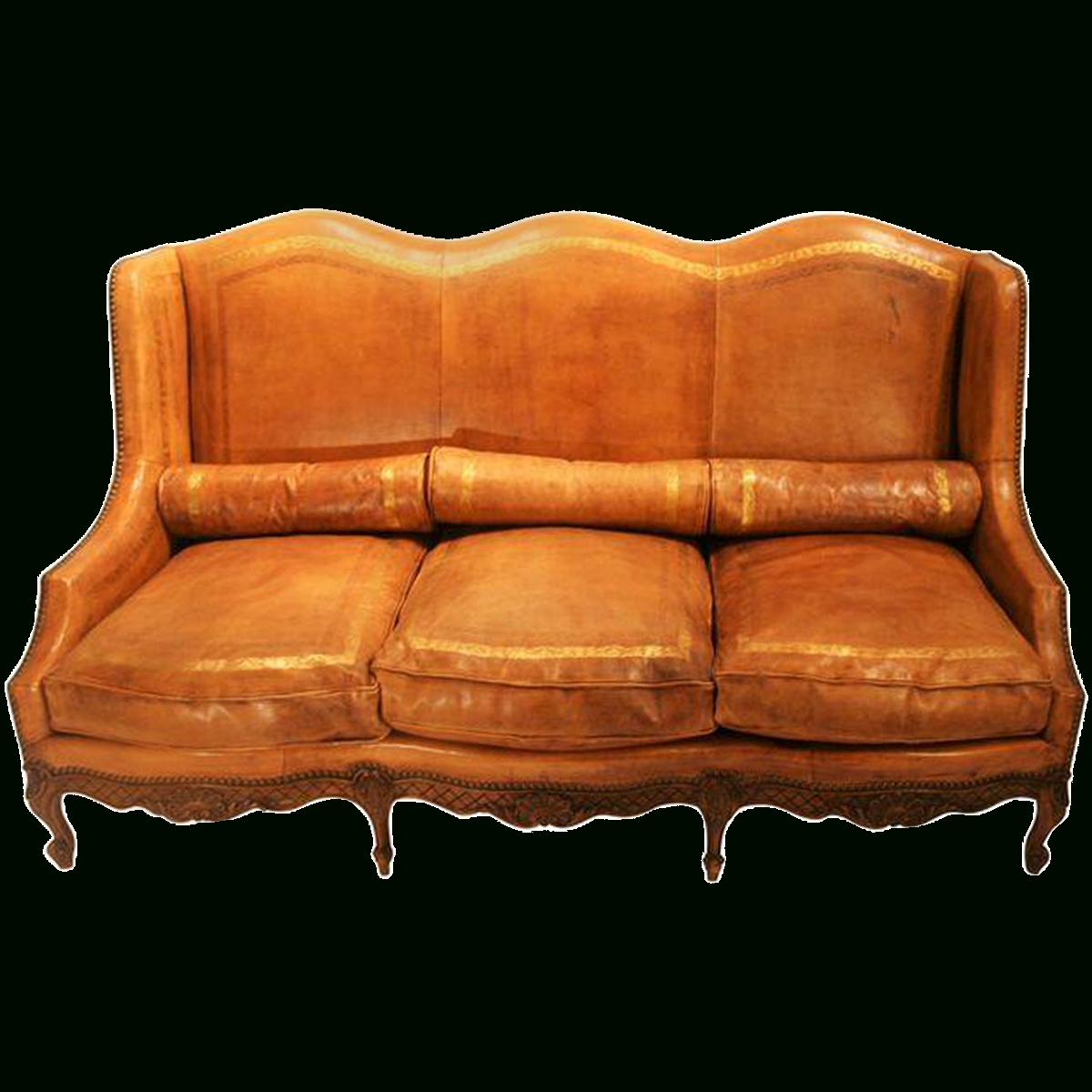 Viyet - Designer Furniture - Seating - Antique Louis Xv Camelback throughout Camelback Leather Sofas