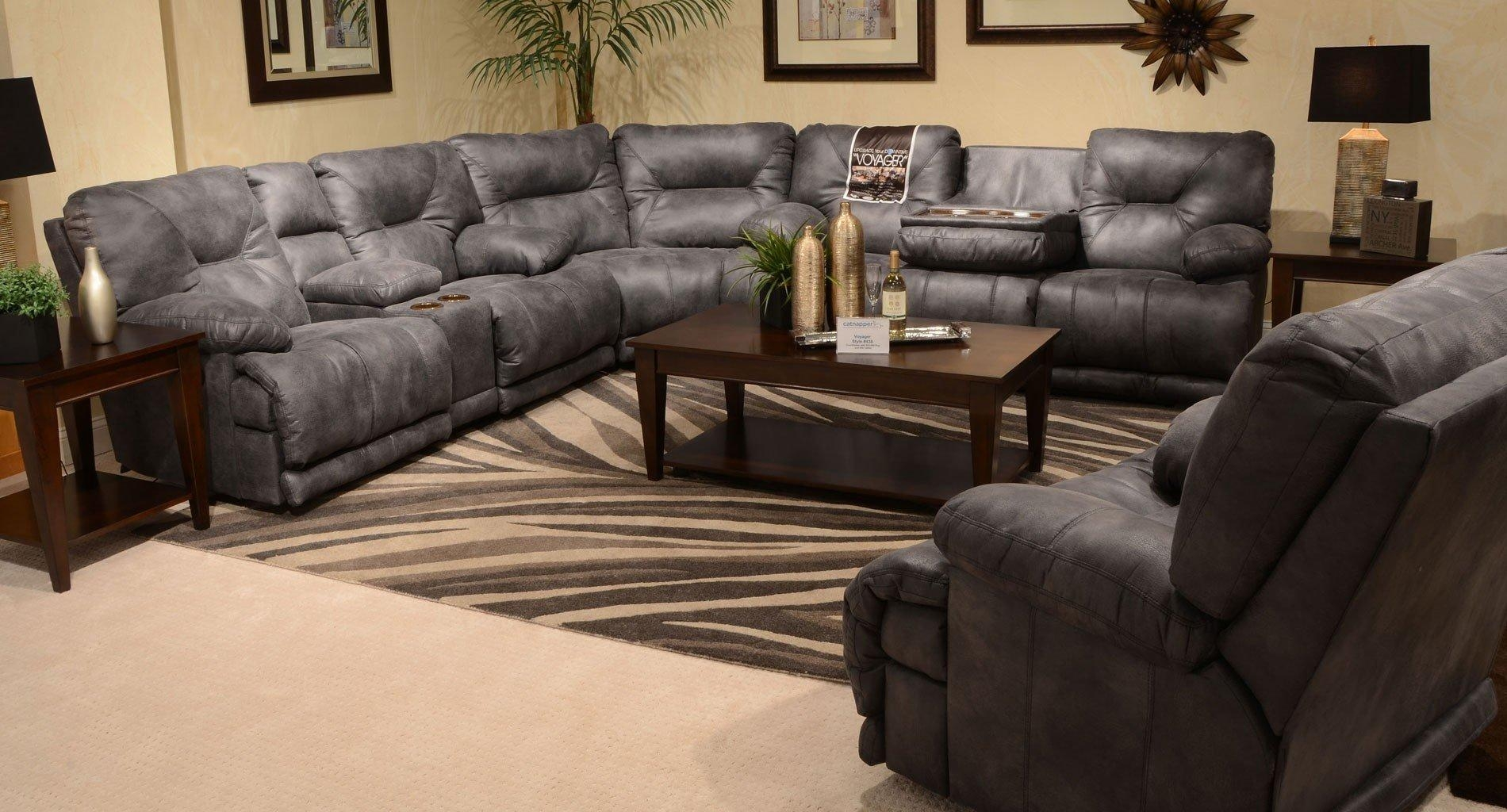 Voyager Reclining Sectional Set (Slate) Catnapper | Furniture Cart in Catnapper Reclining Sofas