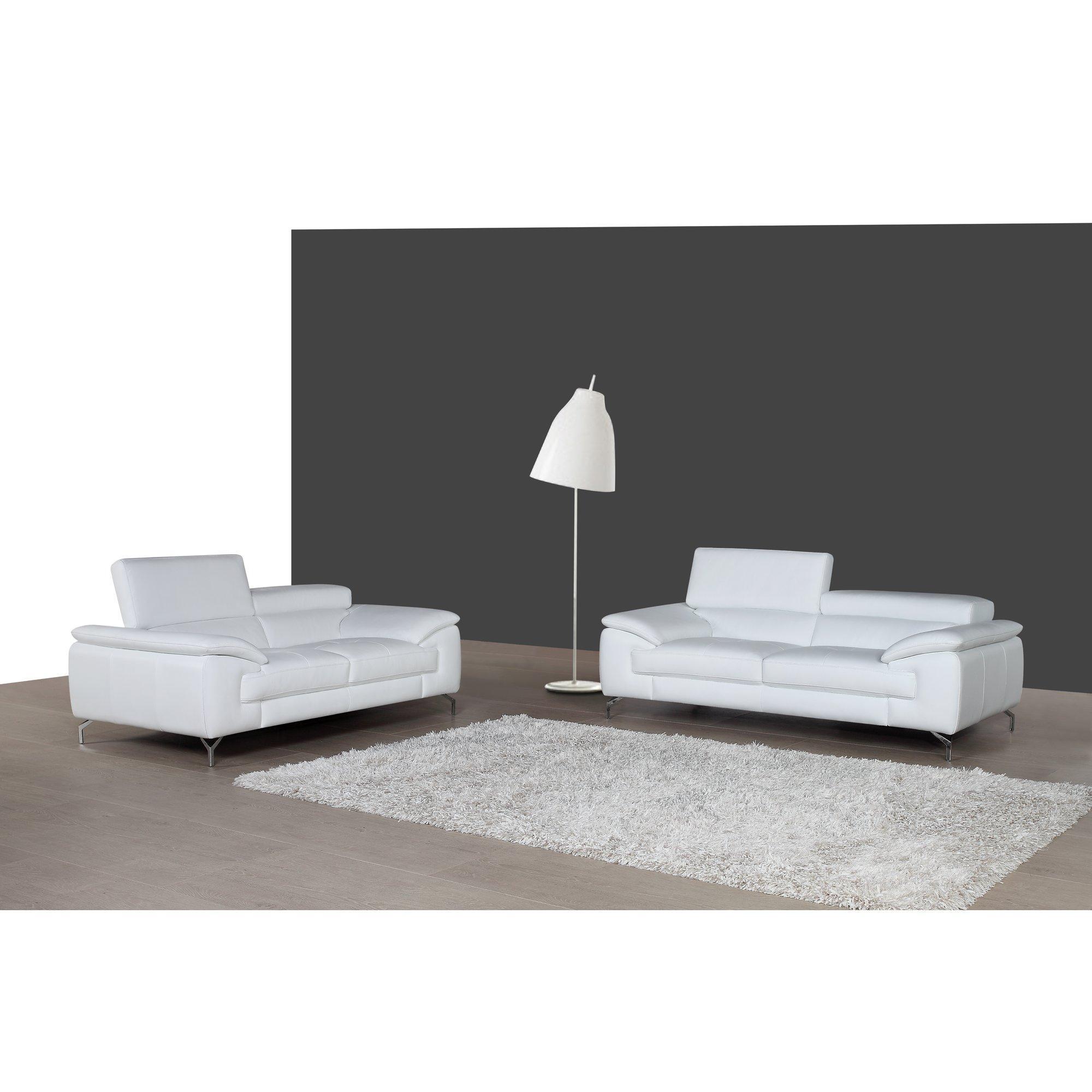 Wade Logan Gideon Italian Leather Sofa & Reviews | Wayfair Supply With Italian Leather Sofas (View 19 of 20)