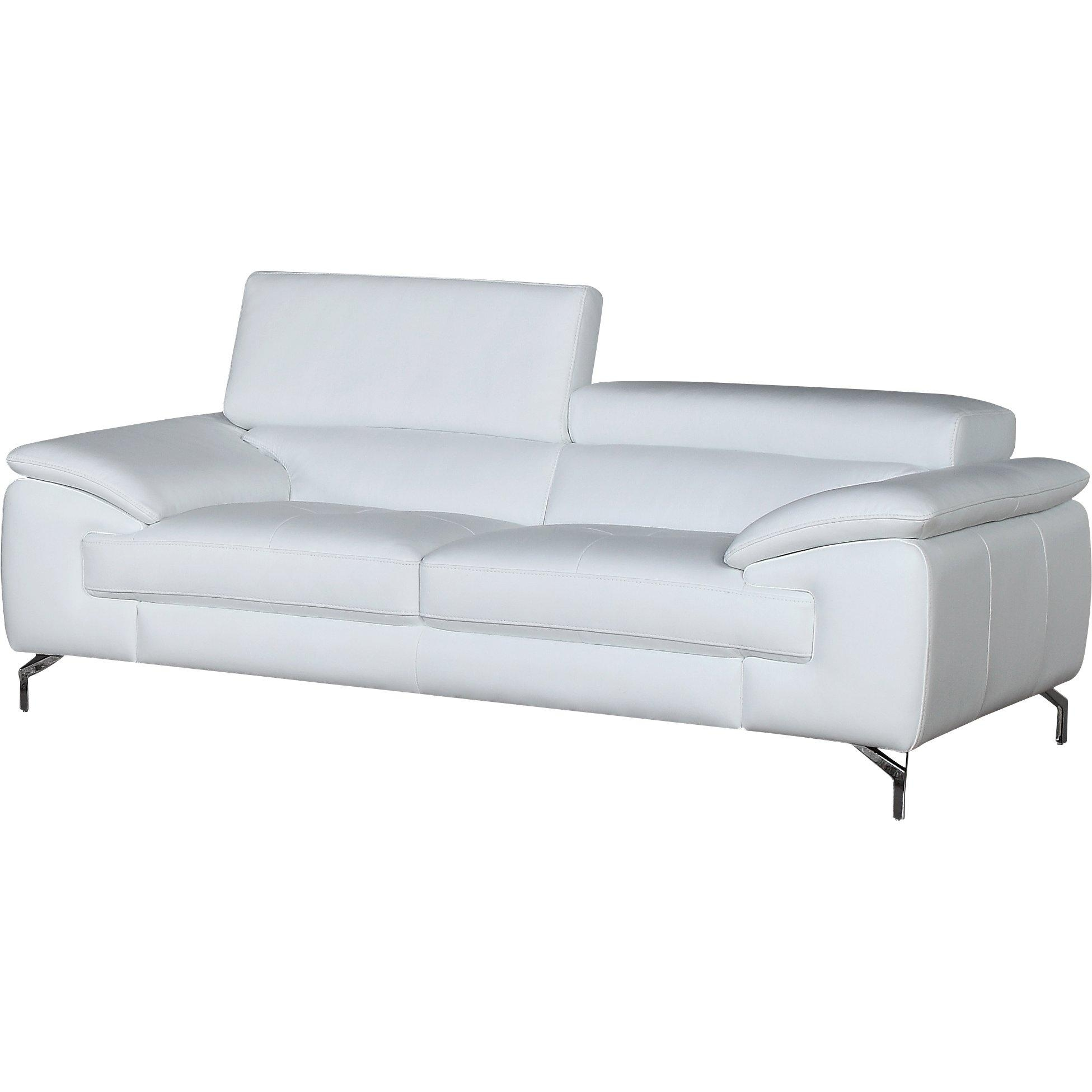 Wade Logan Gideon Italian Leather Sofa & Reviews | Wayfair Supply With Regard To Italian Leather Sofas (Image 20 of 20)