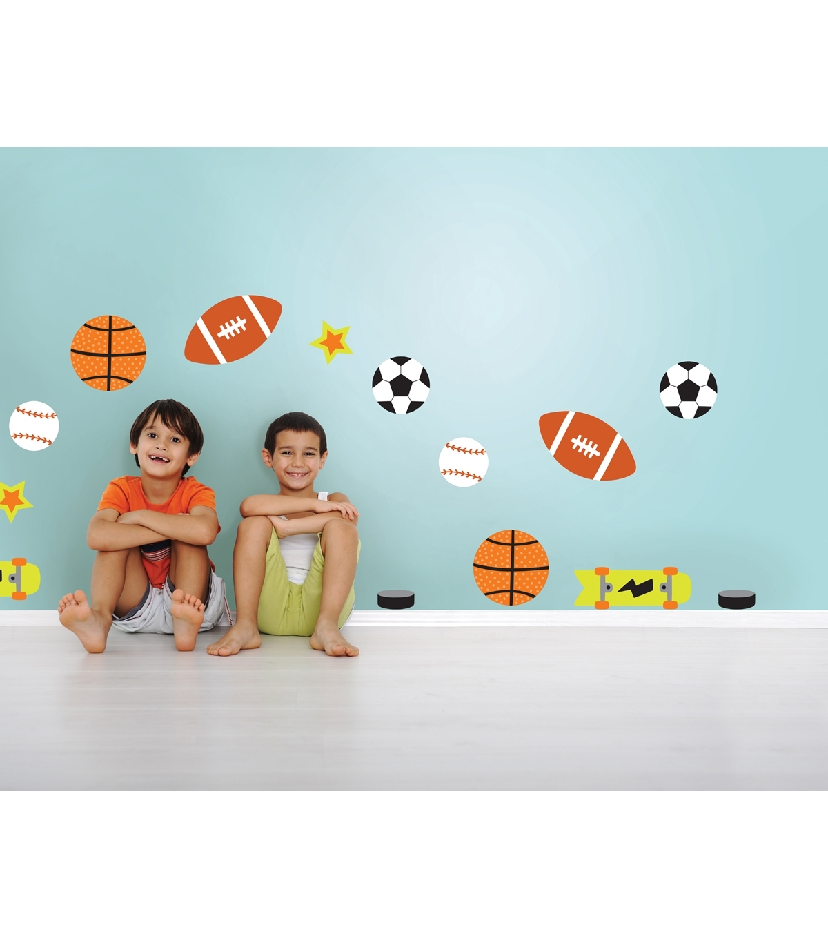 Wall Pops Junior Varsity Sports Wall Decal Kit, 28 Piece Set Regarding Sports Wall Decals Bring Inspiration To Your Boy's Bedroom (Image 9 of 9)