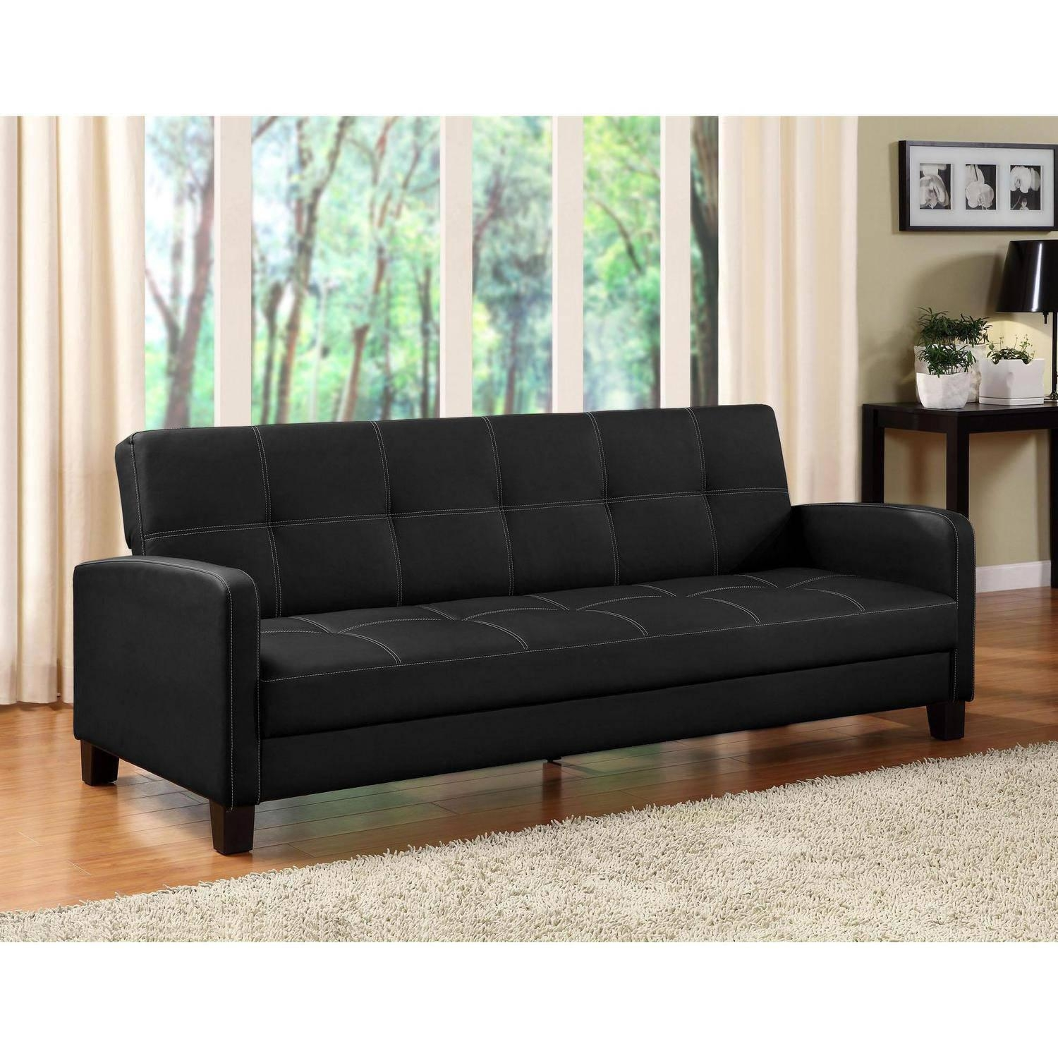 Walmart Faux Leather Sleeper Sofa – Ansugallery With Faux Leather Sleeper Sofas (Image 20 of 20)