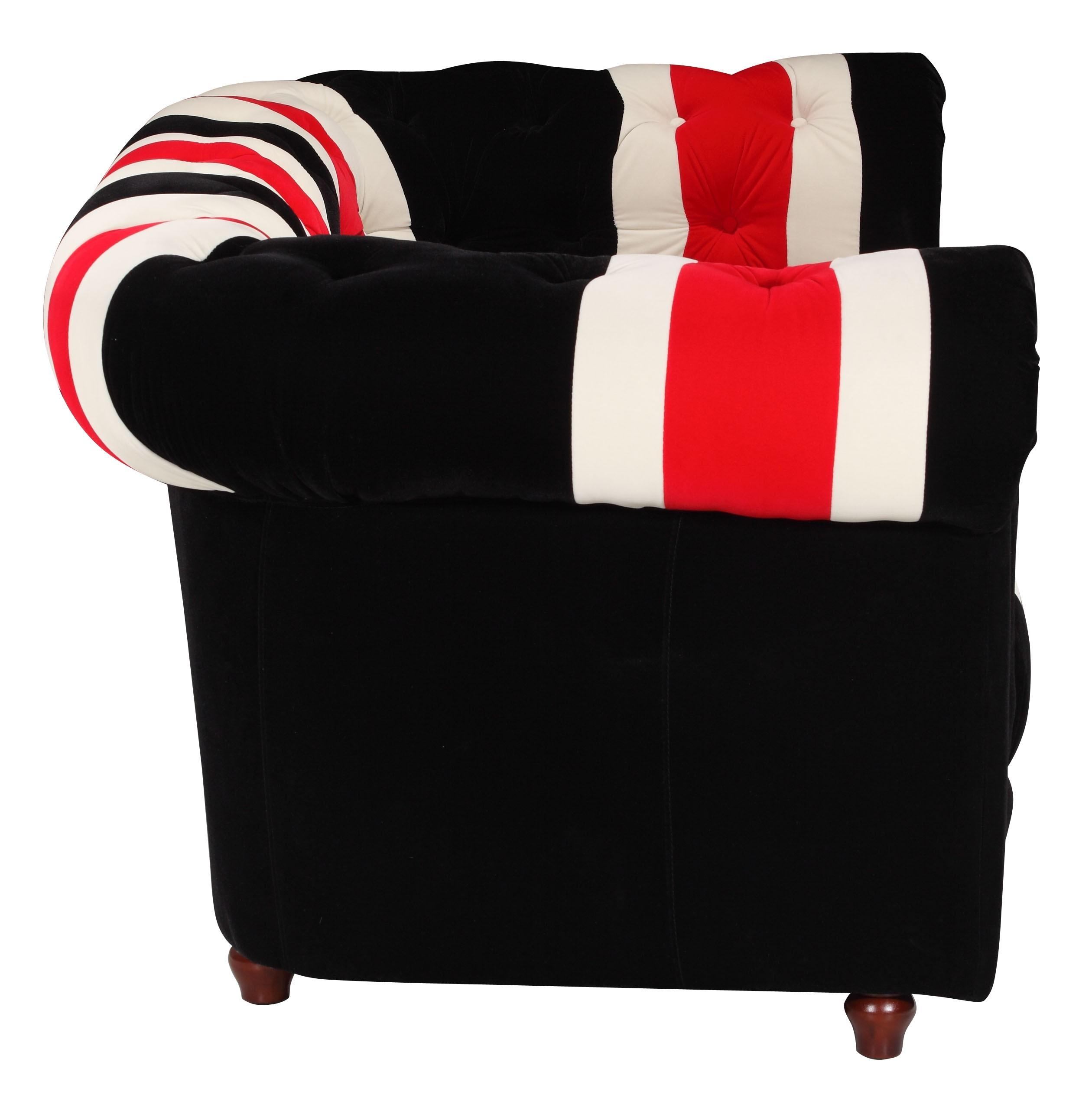Walton Red, White, Black Red , White Sofa Mid Century Modern In Sofa Red And Black (Image 20 of 20)